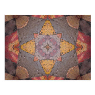Colorful Floor Tiles Kaleidoscope 9 Postcard