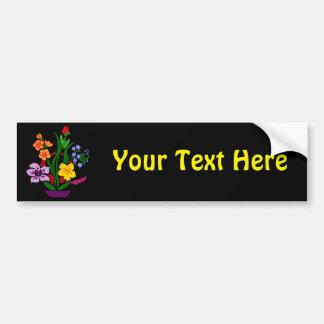 Colorful Floral Abstract Art Arrangement Bumper Sticker