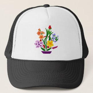 Colorful Floral Abstract Art Arrangement Trucker Hat