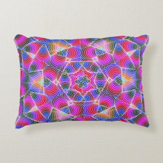 Colorful floral Abstract pattern Accent Pillow