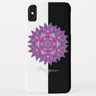 Colorful floral Abstract pattern iPhone XS Max Case
