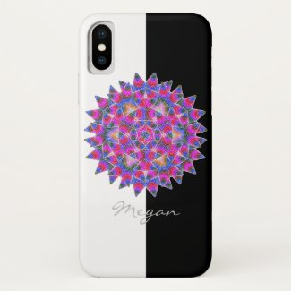 Colorful floral Abstract pattern iPhone X Case