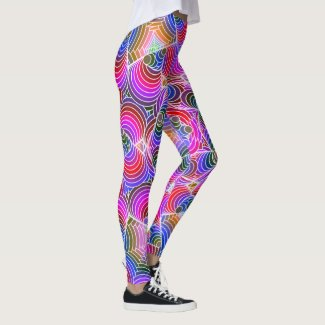 Colorful floral Abstract pattern Leggings