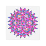 Colorful floral Abstract pattern Metal Print