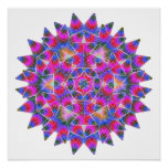 Colorful floral Abstract pattern Poster
