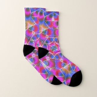 Colorful floral Abstract pattern Socks