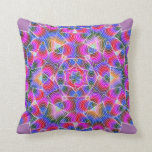 Colorful floral Abstract pattern Throw Pillow