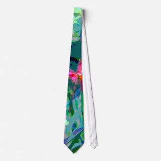 Colorful floral abstract print tie for everyone