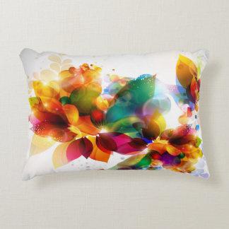 Colorful Floral Accent Pillow