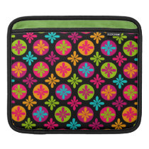 Colorful Floral and Circle Pattern Sleeve For iPads
