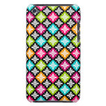 Colorful Floral Argyle Pattern Design iPod Touch Cover