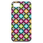 Colorful Floral Argyle Pattern iPhone 5 Covers
