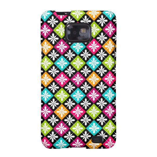 Colorful Floral Argyle Pattern Samsung Galaxy Case