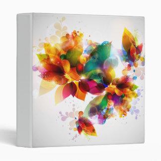 Colorful Floral Binder