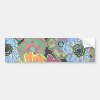 Colorful Floral Bookmark Bumper Sticker