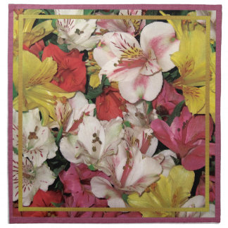 Colorful Floral Bouquet American MoJo Napkins