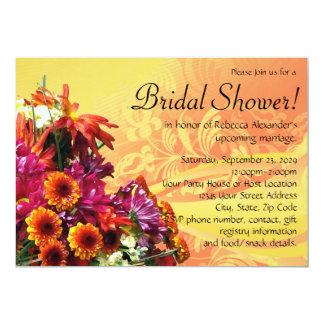 "Colorful Floral Bouquet Bridal Shower Invitations 5"" X 7"" Invitation Card"