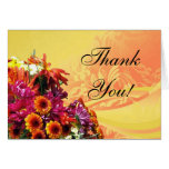 Colorful Floral Bouquet Orange/Yellow Design Greeting Cards