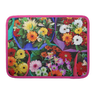 Colorful floral bouquets MacBook sleeve