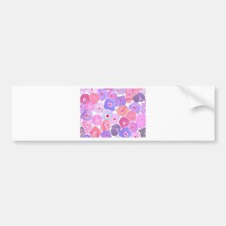 Colorful Floral Bumper Sticker