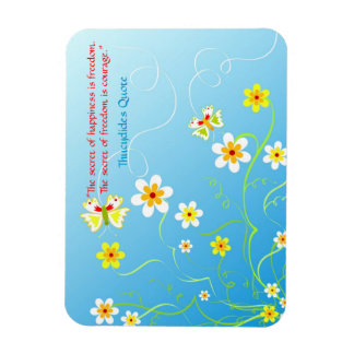 Colorful floral butterflies rectangular photo magnet