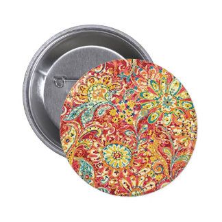 Colorful Floral Button