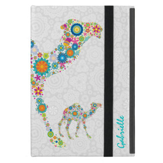 Colorful Floral Camel & White Damasks iPad Mini Covers