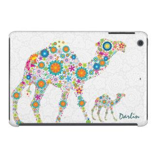 Colorful Floral Camels & White Damasks iPad Mini Retina Case