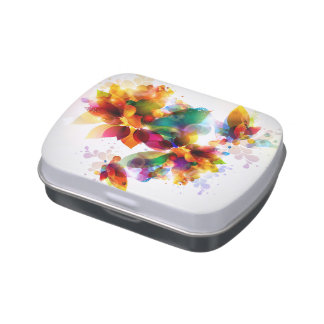 Colorful Floral Candy Tin