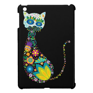 Colorful Floral Cat iPad Mini Cover