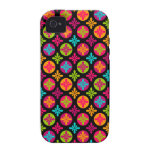 Colorful Floral Circle Pattern Case Mate iPhone 4 iPhone 4/4S Case