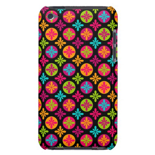 Colorful Floral Circle Pattern Design iPod Case-Mate Cases