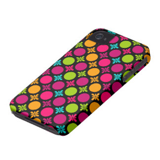 Colorful Floral Circle Pattern Design iPhone 4 Case