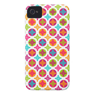 Colorful Floral Circle Pattern Design iPhone 4 Cover