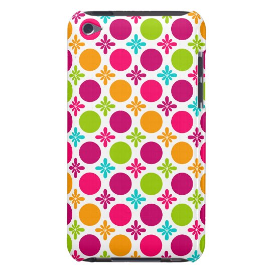 Colorful Floral Circle Pattern Design iPod Case-Mate Case