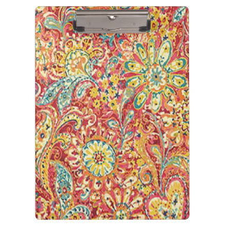 Colorful Floral Clipboard