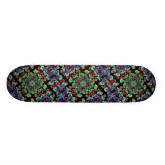 Colorful Floral Collage Pattern Skateboard Deck