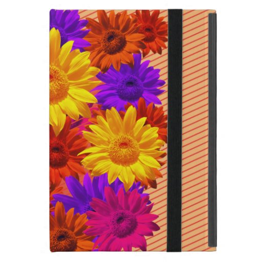 Colorful Floral Collage Yellow purple red Pop Art Case For iPad Mini