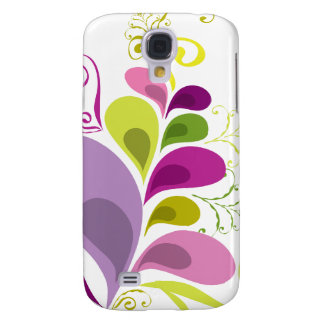 Colorful Floral Deco Leaves Nature Art Deco Chic Galaxy S4 Cover