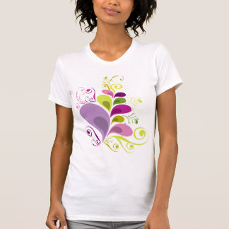 Colorful Floral Deco Leaves Nature Art Deco Chic T-Shirt