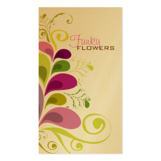 Colorful Floral Deco Leaves Nature Profile Card