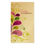 Colorful Floral Deco Leaves Nature Profile Card Business Card