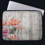 "Colorful Floral Design Laptop Sleeve<br><div class=""desc"">This awesome Laptop Sleeve features a colorful grungy flower design.</div>"