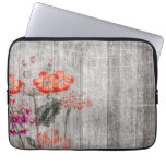 Colorful Floral Design Laptop Sleeve<br><div class='desc'>This awesome Laptop Sleeve features a colorful grungy flower design.</div>