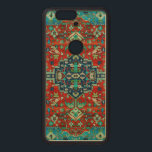 """Colorful Floral Design Persian Carpet Motive Wood Nexus 6P Case<br><div class=""""desc"""">Cool vintage floral design pastel tones Persian carpet motive. Digitally colorized. Red and blue overtones version. If you need any help customizing any go my design,  contact ArtOnWear designer. Free text formatting with live help available by request.</div>"""