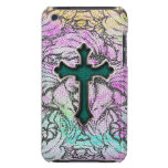 Colorful Floral Filigree Cross iPod Touch Covers