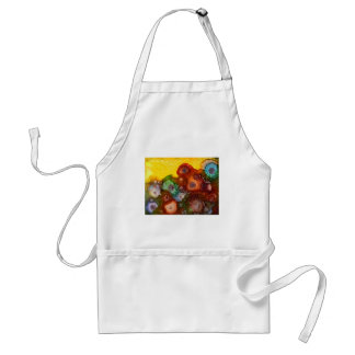 Colorful floral garden apron
