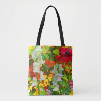 Colorful Floral Garden Flowers Abstract Tote Bag