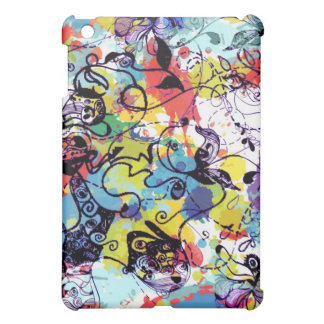 Colorful Floral Graffiti Grunge Art 5 Cover For The iPad Mini
