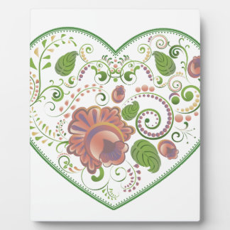 Colorful Floral Heart 2 Plaque